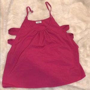 Tops - Hot pink tobi tank top side small